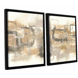 Platinum Neutrals II 2 Piece Framed Painting Print on CanvasSet by Latitude Run