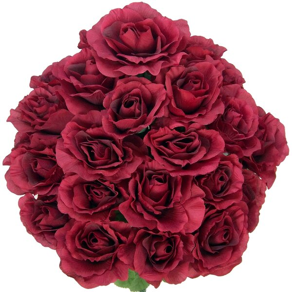 Artificial Blooming Rose Flowers Bush by Admired b