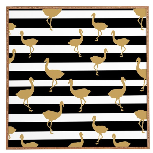 Classy Flamingos Framed Wall Art by East Urban Home