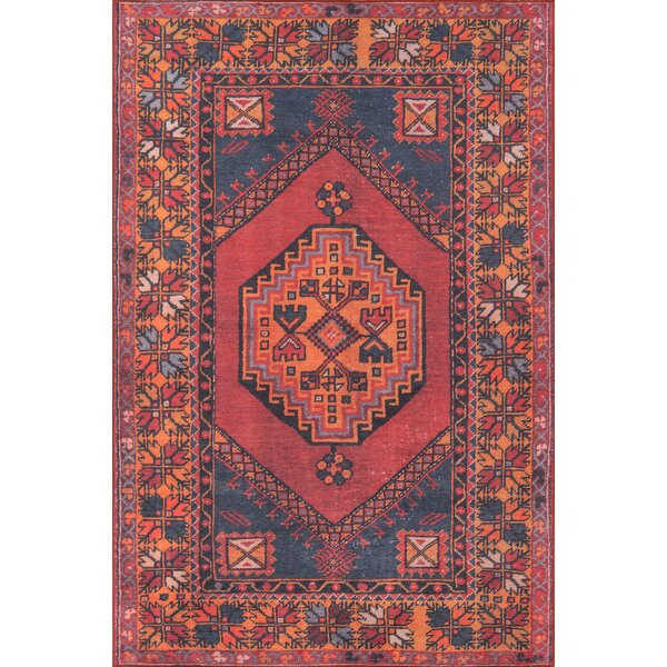 Varian Red Area Rug by Bungalow Rose