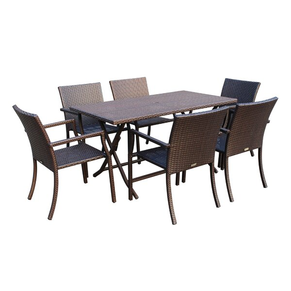 Gomez Cafe 7 Piece Dining Set by Highland Dunes