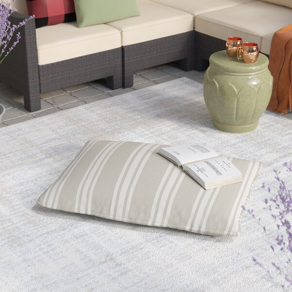 Macon Sunbrella Indoor/Outdoor Piped Floor Pillow by Laurel Foundry Modern Farmhouse