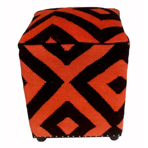 Resendez Kilim Cube Ottoman by World Menagerie