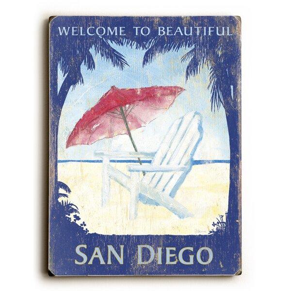 Welcome to Beautiful Santa Barbara Vintage Advertisement by Artehouse LLC