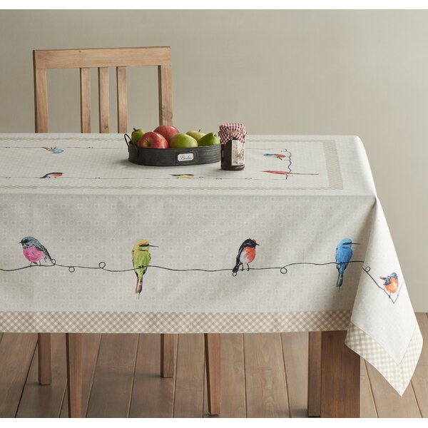 Birdies on Wire Tablecloth by Maison d' Hermine