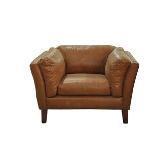 Tallulah Leather Club Chair by 17 Stories