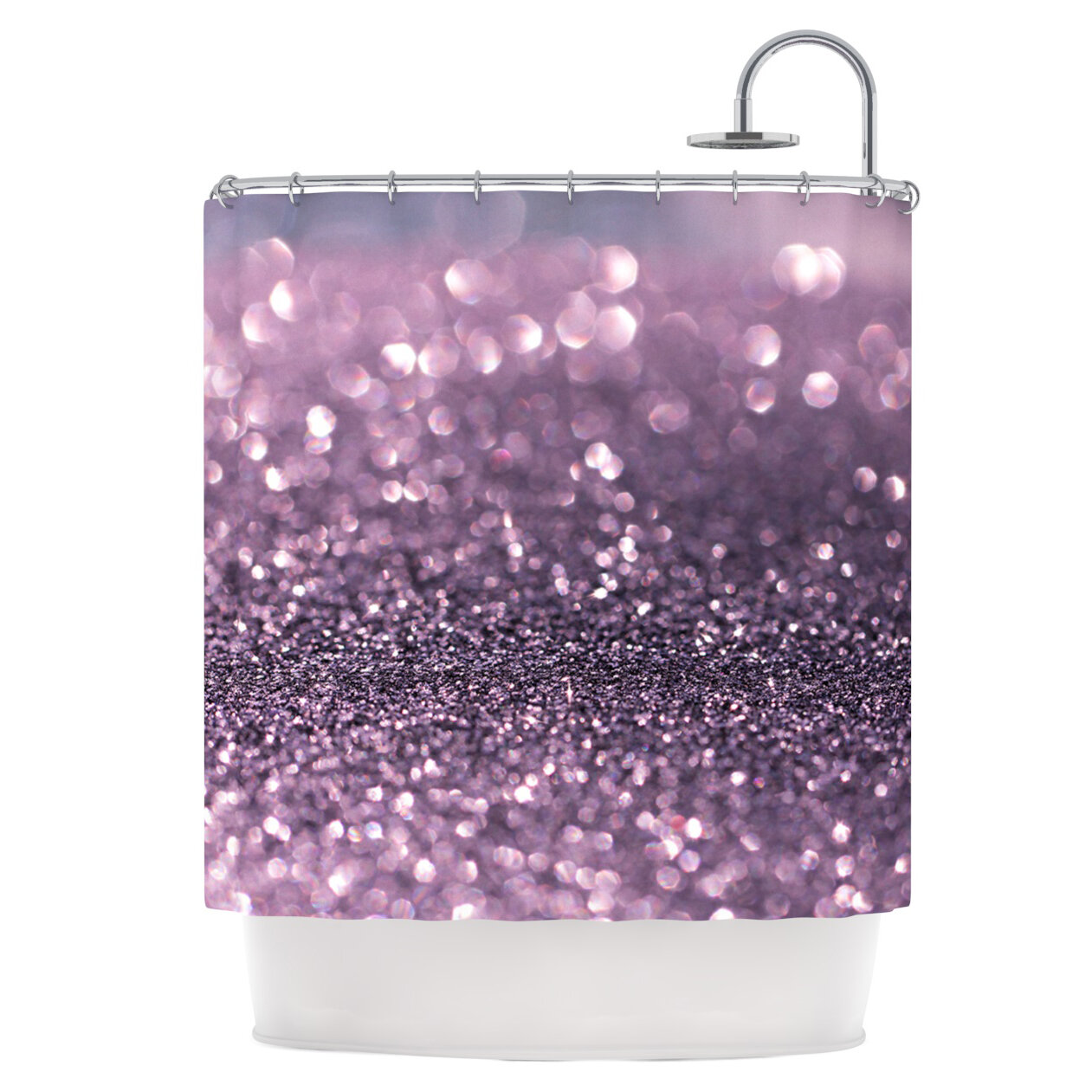 East Urban Home Lavender Sparkle Shower Curtain Reviews