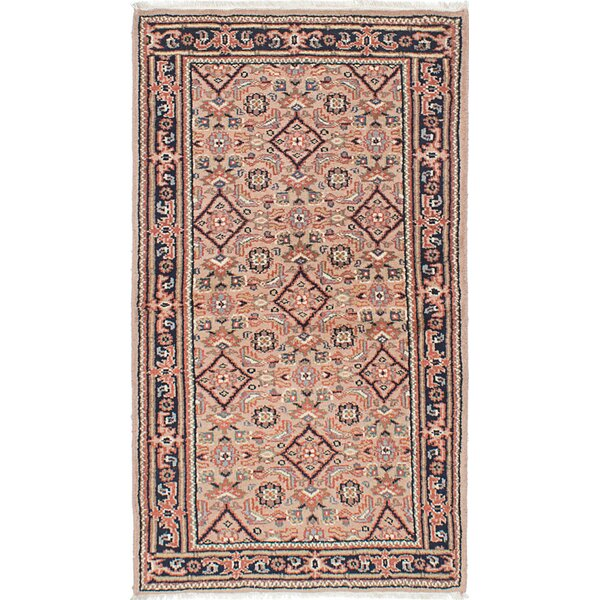 Ivan Hand-Knotted Beige/Ivory Area Rug by Darby Home Co
