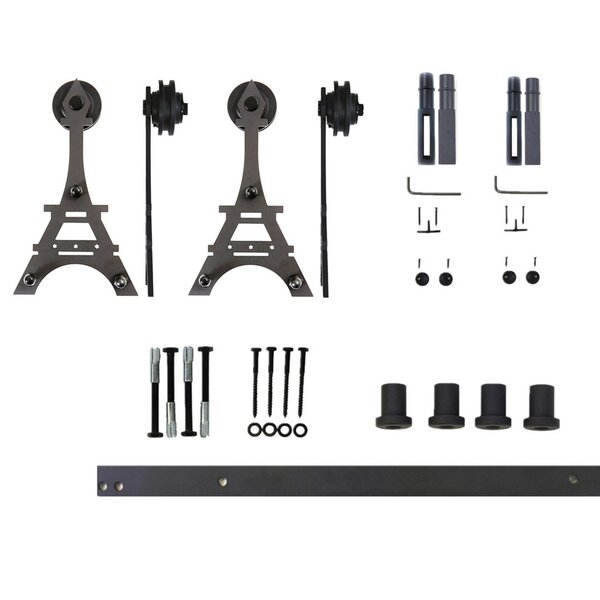 Double Eiffel Barn Door Hardware by Vancleef
