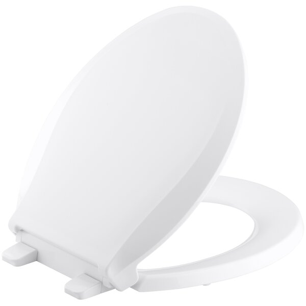 Cachet Quiet-Close with Grip-Tight Round-Front Toilet Seat by Kohler