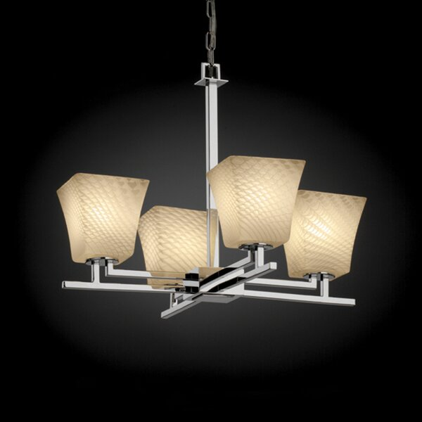 Bissett 4-Light Shaded Classic / Traditional Chandelier By World Menagerie
