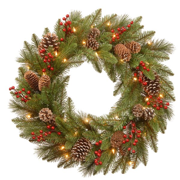 Bristle Berry 24 PVC Wreath by The Holiday Aisle