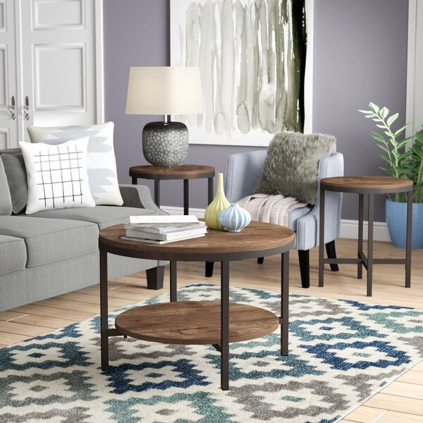 Absher 3 Pieces Coffee Table Set by Mercury Row
