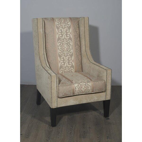 Brandt Wingback Chair by Fleur De Lis Living