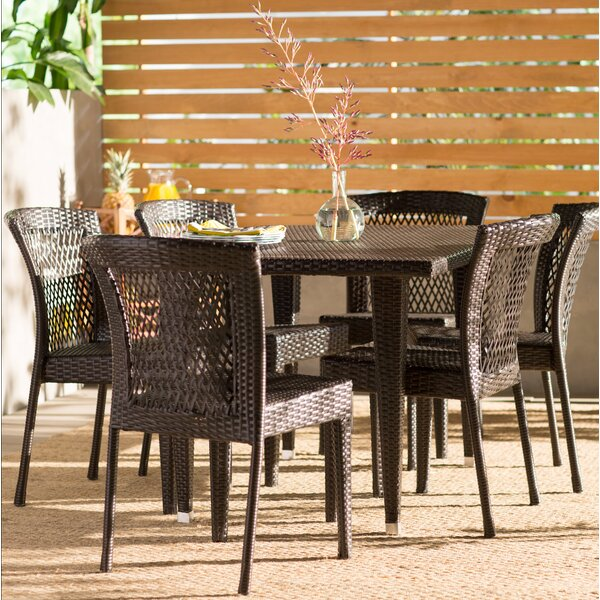 Vinalhaven 7 Piece Dining Set by Beachcrest Home
