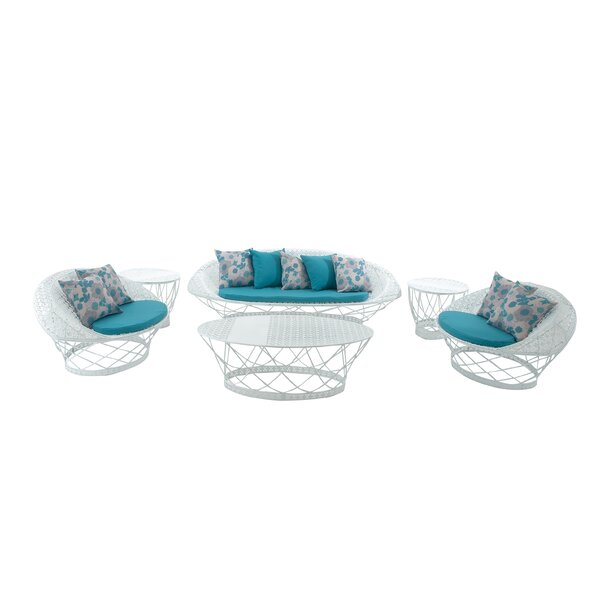 Almohades 6 Piece Sofa Set with Cushions by Bungalow Rose