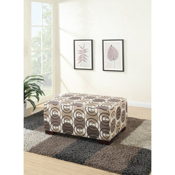 Chien Polyester Fabric Cocktail Ottoman by Ebern Designs