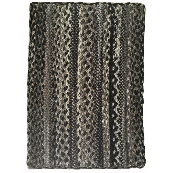 Cristian Hand-Braided Wool Gray Area Rug by August Grove