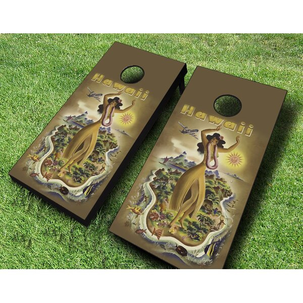 Hawaii Poster Cornhole Set by AJJ Cornhole