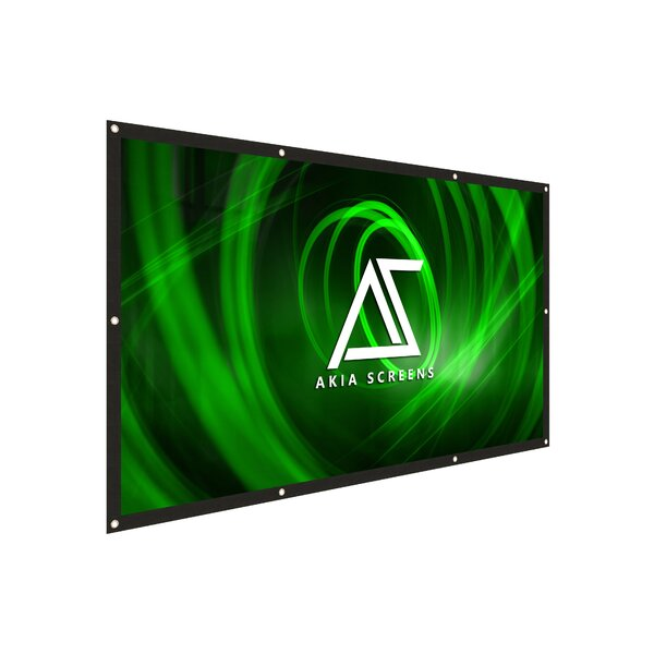 Akia Motorized 8K/4K Ultra HD 3D Ready Wall/Ceiling Mounted White 110 Electric Projection Screen by Elite Screens