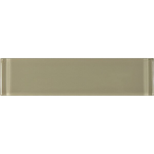Metro 3 x 12 Glass Field Tile in Brown by Abolos