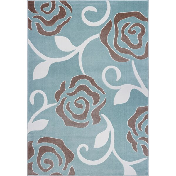 Signe Pattern Blue Area Rug by Astoria Grand