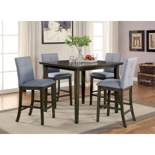 Hann Wooden 5 Piece Counter Height Dining Table Set By Red Barrel Studio