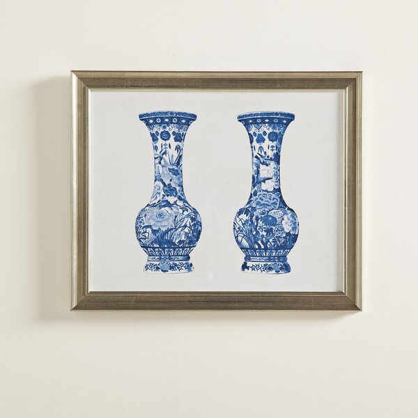 Porcelain Vase Duo Framed Painting Print by Birch Lane™