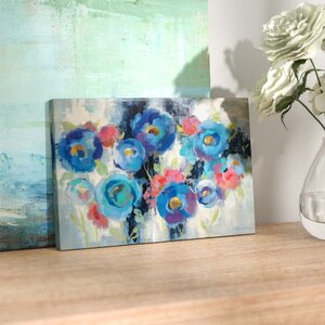 'Day and Night Florals I' Watercolor Painting Print by East Urban Home