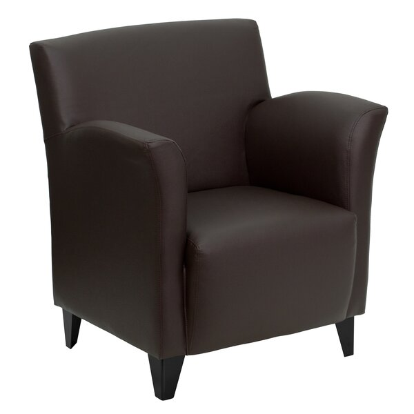 Dillman Reception Leather Lounge Chair by Latitude Run