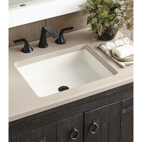 Nipomo Stone Rectangular Undermount Bathroom Sink by Native Trails, Inc.