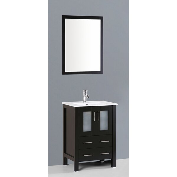Netto 24 Single Bathroom Vanity Set with Mirror by Ebern DesignsNetto 24 Single Bathroom Vanity Set with Mirror by Ebern Designs