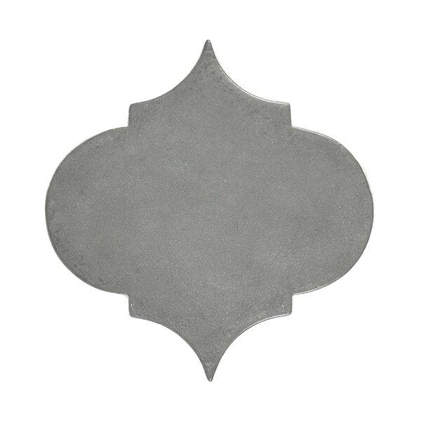 Urban Versaille Arabesque 5.4 x 5.4 Cement Mosaic Tile in Gray by Madrid Ceramics