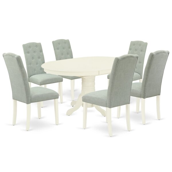 Khalil 7 Piece Extendable Solid Wood Dining Set by One Allium Way One Allium Way