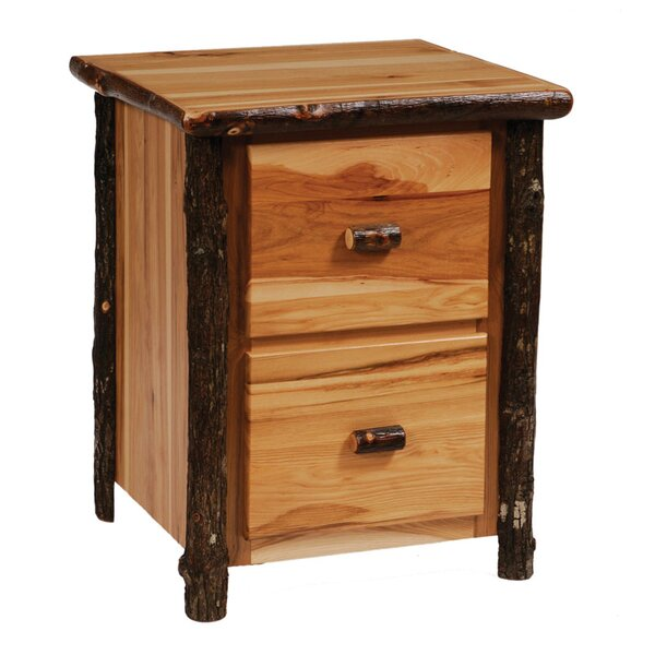 Hickory 2-Drawer File Cabinet by Fireside Lodge