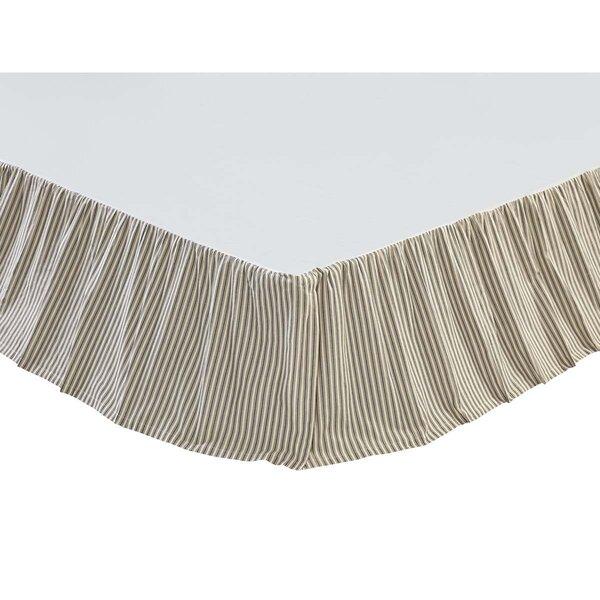 Ding Stripe Bed Skirt by Gracie Oaks