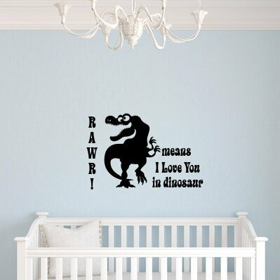 Akerstrom Rawr Means I Love You in Dinosaur Wall Decal by Zoomie Kids