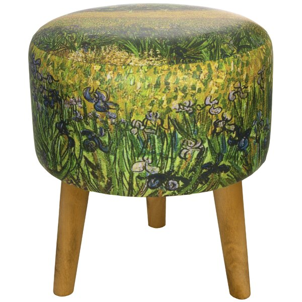 Van Gogh Irises Stool by Oriental Furniture