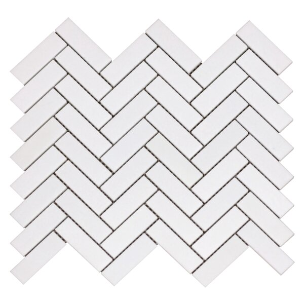Greek Thassos Tumbled 1 x 3 Marble Mosaic Tile