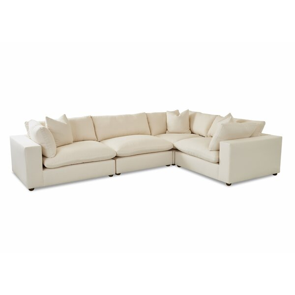 L-Shaped Modular Sectional Without Pillows By Wayfair Custom Upholstery™