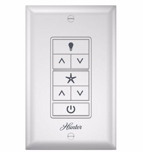 Universal Wall Mounted Remote Fan Control By Hunter Fan.