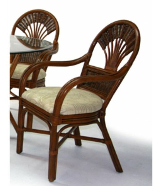 Tradewinds Upholstered Queen Anne Back Arm Chair by Boca Rattan Boca Rattan
