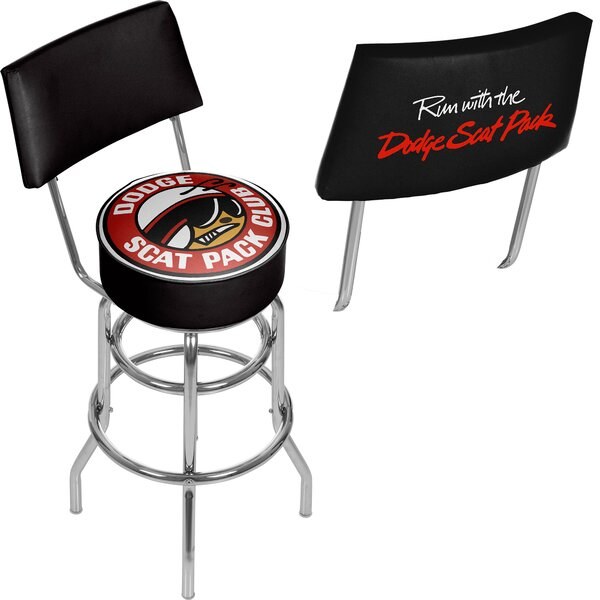 Dodge Scat Pack Club 31 Swivel Bar Stool by Trademark Global