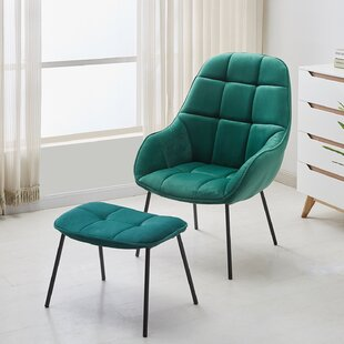 Delafield Armchair and Ottoman by Mercer41
