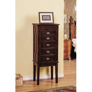 5 Drawer Jewelry Armoire with Flip Top..