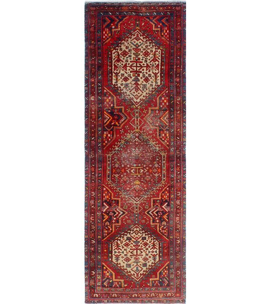 One-of-a-Kind Millay Sherazi Changeez Hand-Knotted Wool Red Area Rug by Bloomsbury Market
