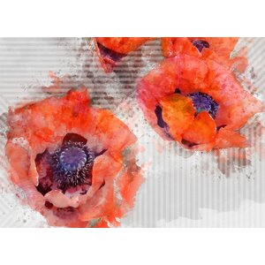 Prince 'Poppies' Graphic Art on Wrapped Canvas by Ivy Bronx