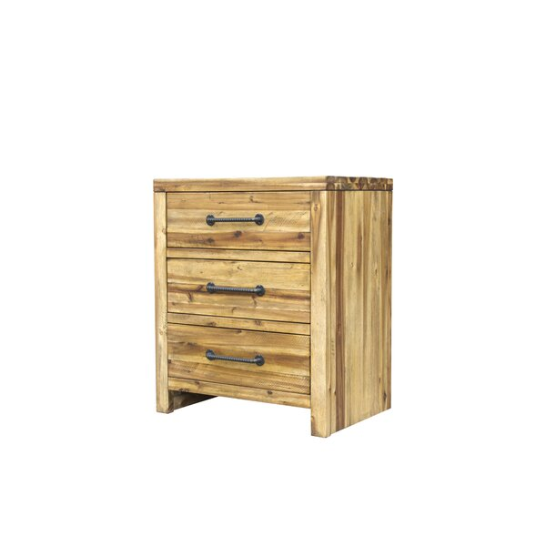 Camilo 3 Drawer Nightstand by Union Rustic