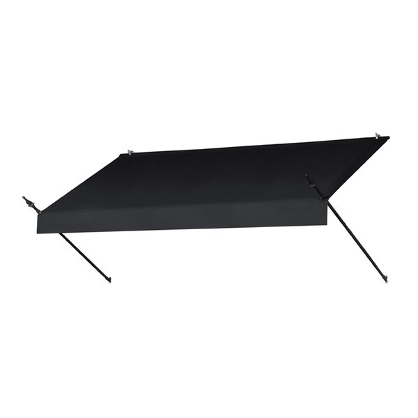 Awning in a Box™ Designer Style 8 ft. W x 3 ft. D Retractable Window Awning by IDM Worldwide