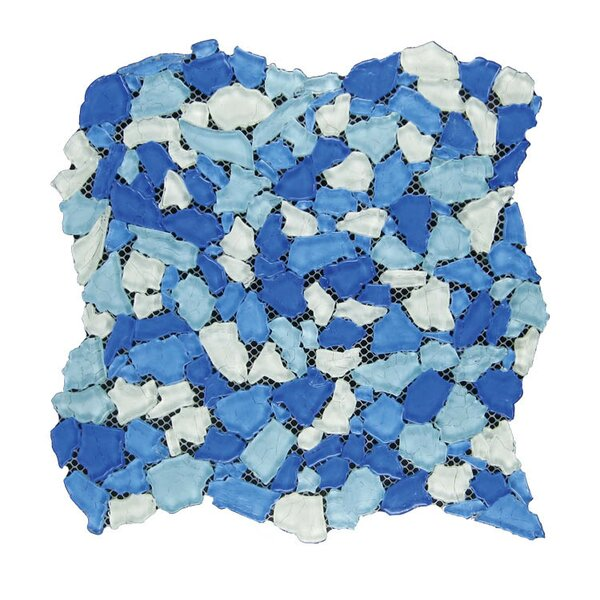 Glass Mosaic Tile in Blue/Aqua by QDI Surfaces